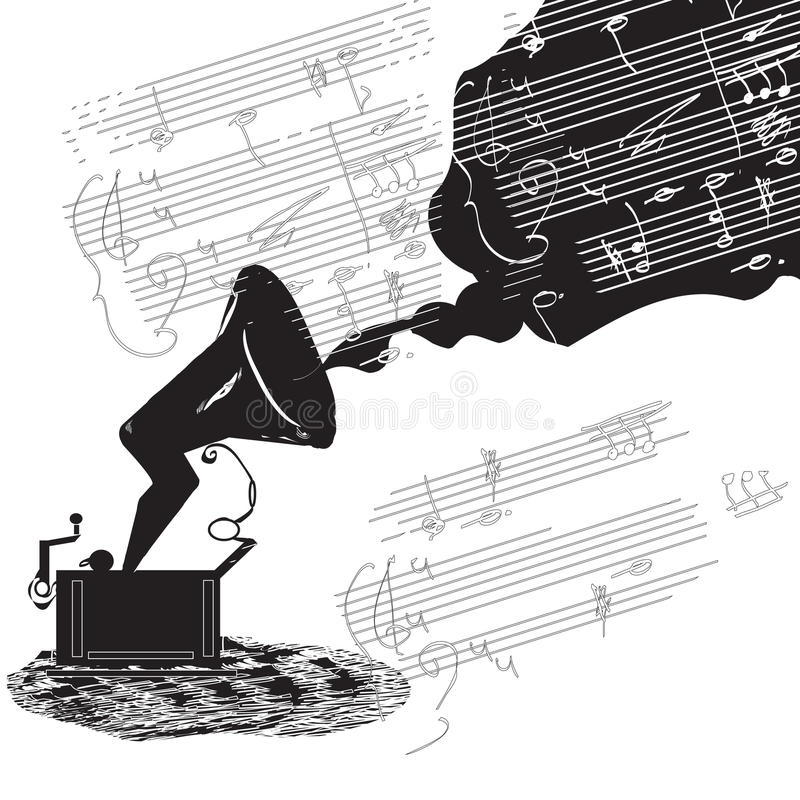 Download Phonograph sketch stock vector. Image of jazz, lines - 30781417