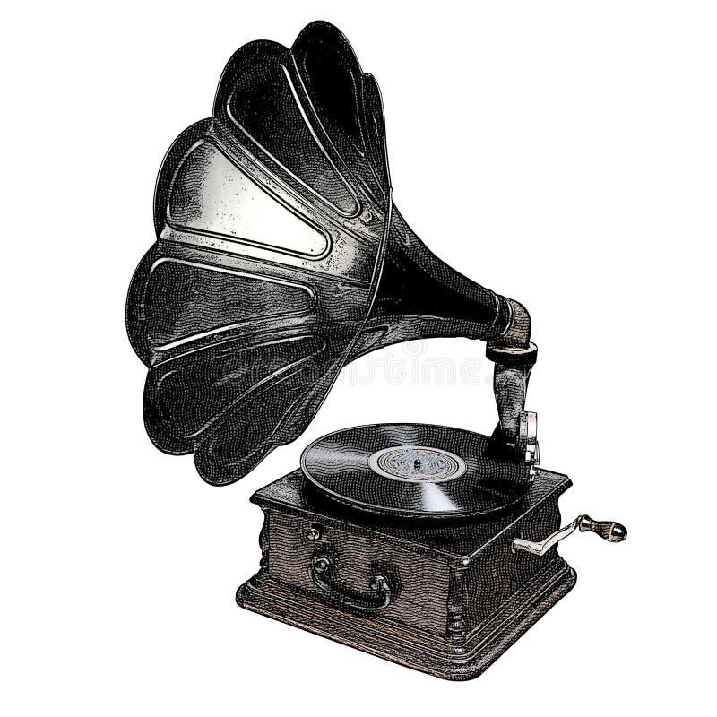 Phonographe illustration de vecteur