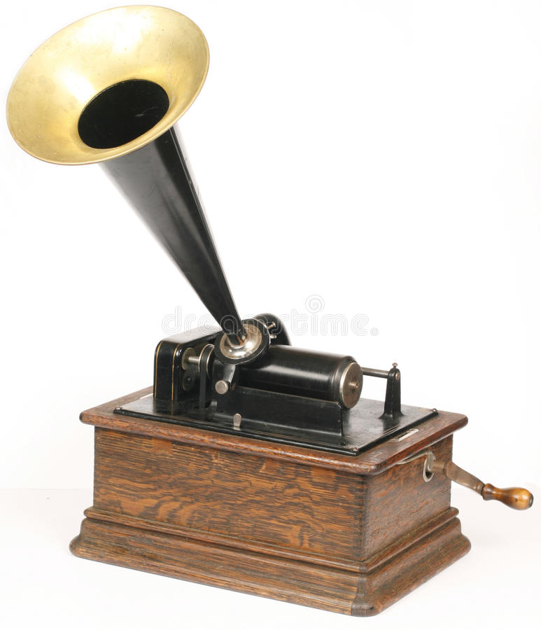 Phonographe de cru photo stock