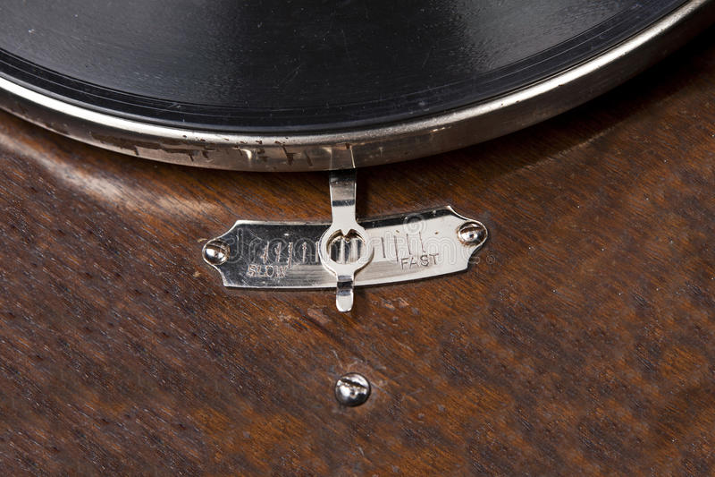 Phonographe de cru d'isolement image stock