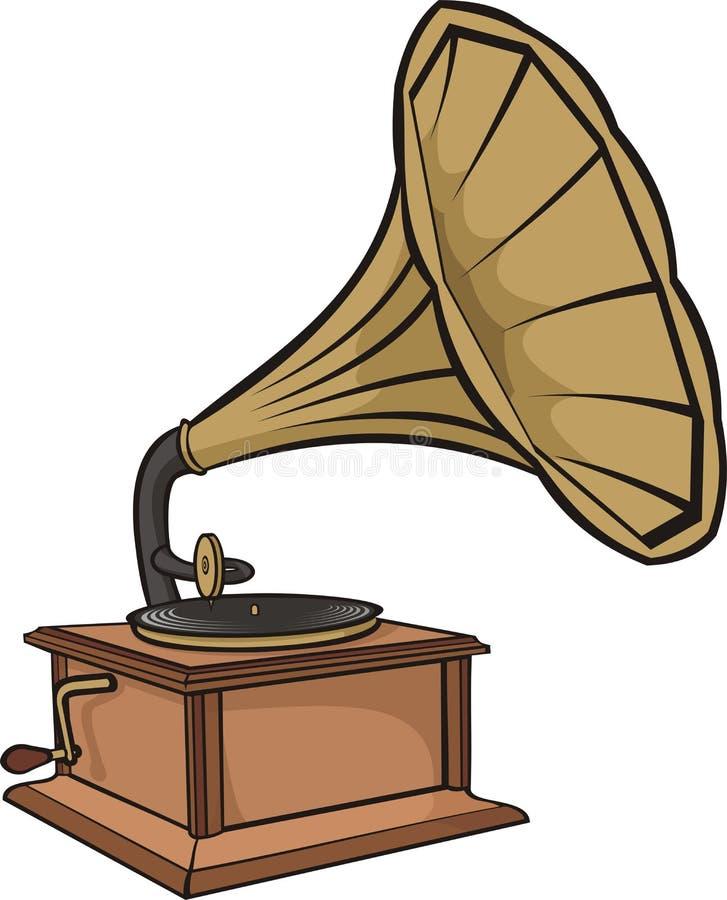 Phonographe - phonographe de cru illustration libre de droits