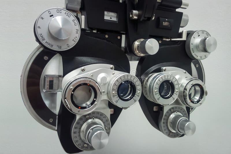 Phoropter dla ocznego probierczego przyrządu zdjęcia royalty free