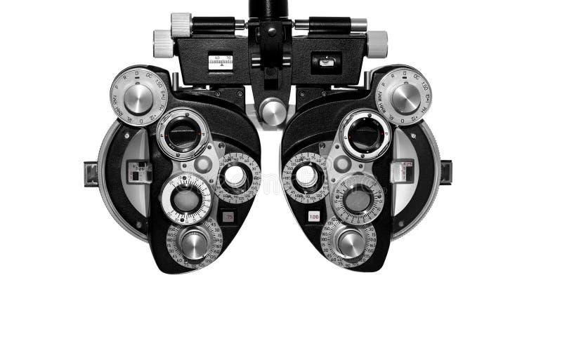 Phoropter, oczny probierczy wyposażenie obrazy royalty free