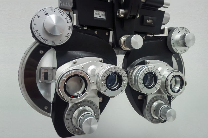 Phoropter for an ophthalmic testing device royalty free stock photos
