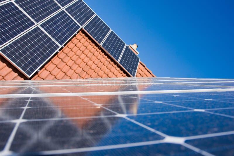 Phorovoltaicinstallatie stock afbeelding