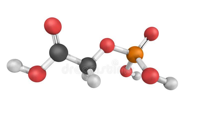 Phosphoglycoliczuur, als Phosphoglycolate ook wordt bekend die Een substrat stock afbeeldingen