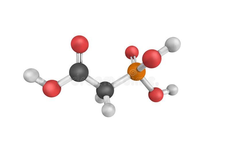 Phosphonoacetic syra som används som en inhibitor av virus- DNAreplicat fotografering för bildbyråer