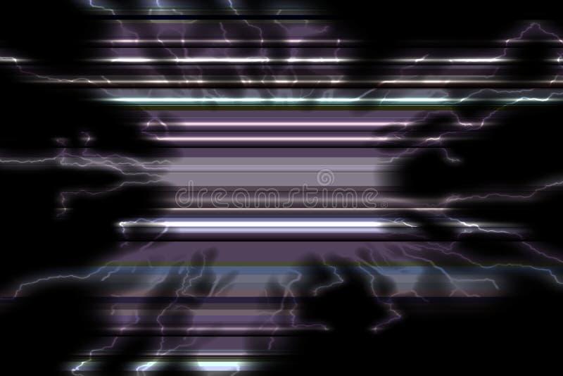 Phosphoreszierende schwarze blaue Linien Frohe Beschaffenheit und Muster lizenzfreie stockfotografie
