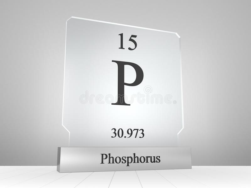 Phosphorus Symbol On Modern Glass And Metal Icon Stock Illustration