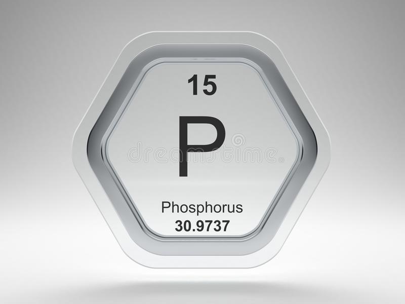 Phosphorus Symbol Hexagon Frame Stock Illustration Illustration Of