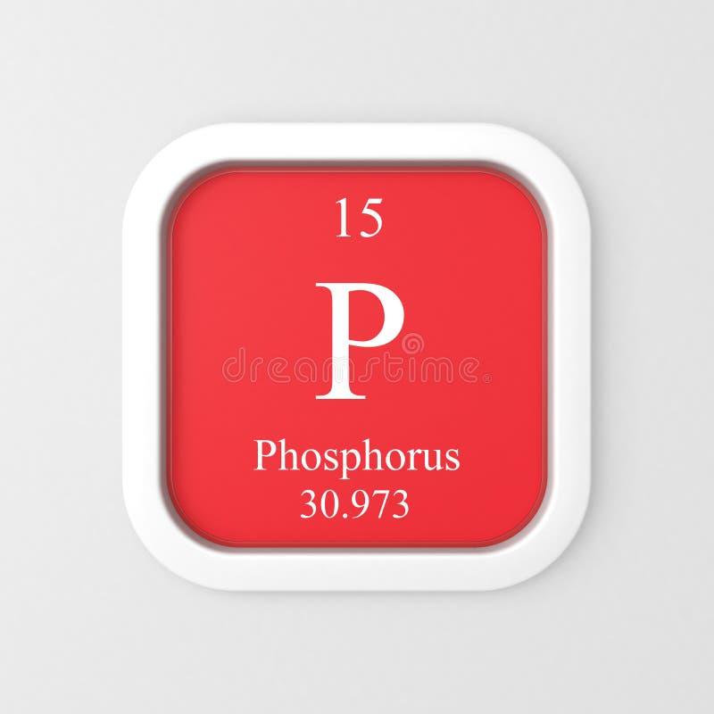 Phosphorus Symbol From Periodic Table Stock Illustration