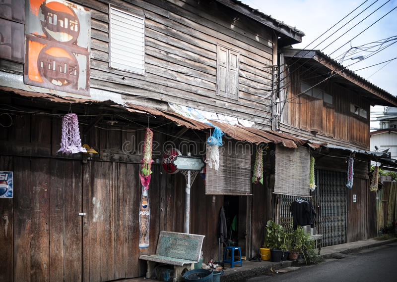 Photharam Life Style. Houses around conner in Photharam, Thailand royalty free stock photos