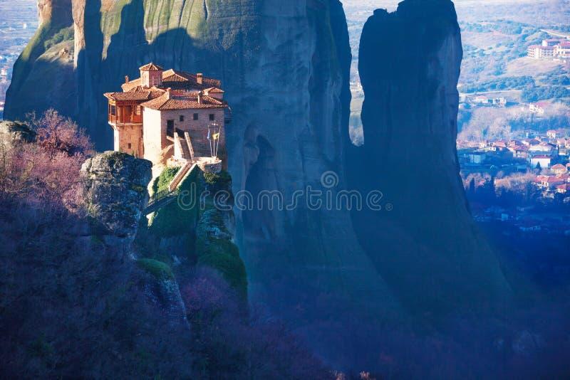 Photo étonnante du monastère saint de Rousanou photos stock