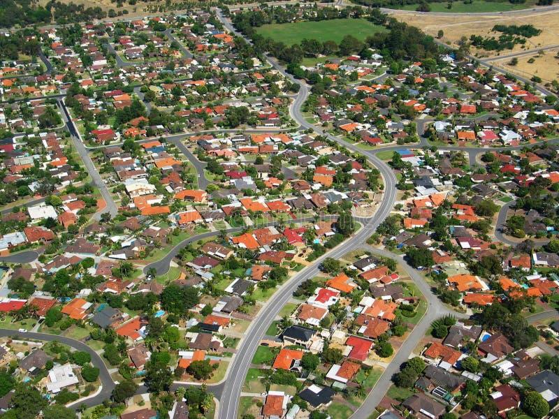 Photo aérienne 2 images stock