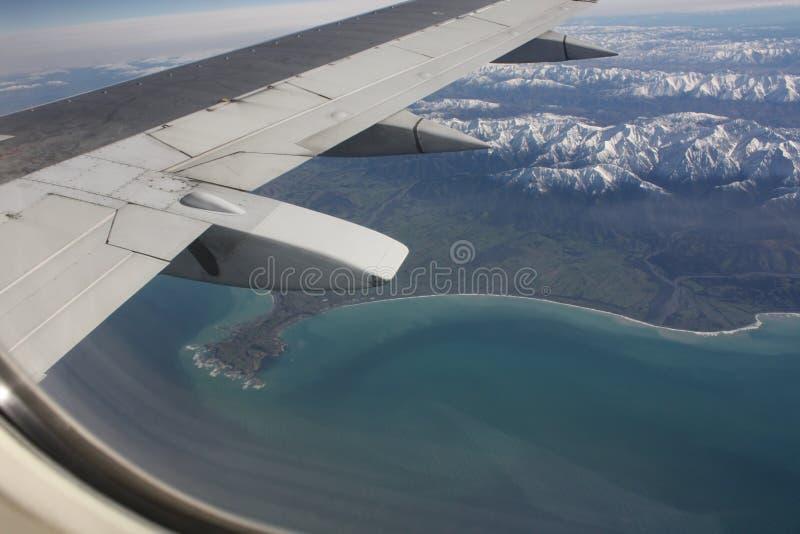 Photo aérienne de Kaikoura photographie stock libre de droits
