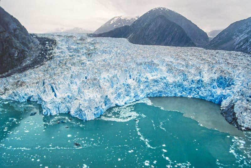 Photo aérienne de l'Alaska Tracy Arm photographie stock libre de droits