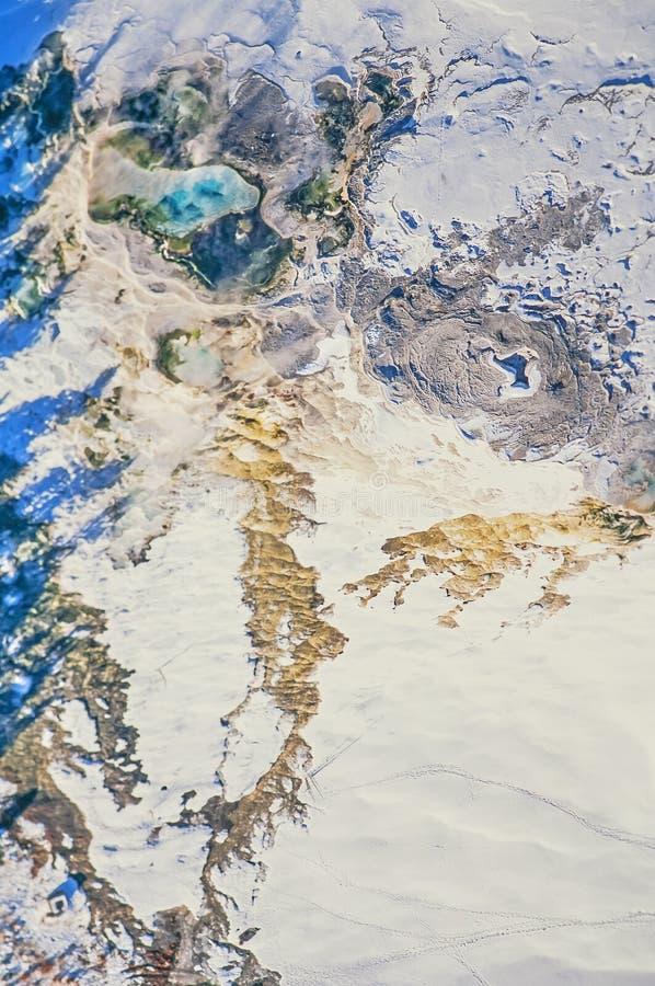 Photo aérienne de mammouth de parc de Yellowstone images stock