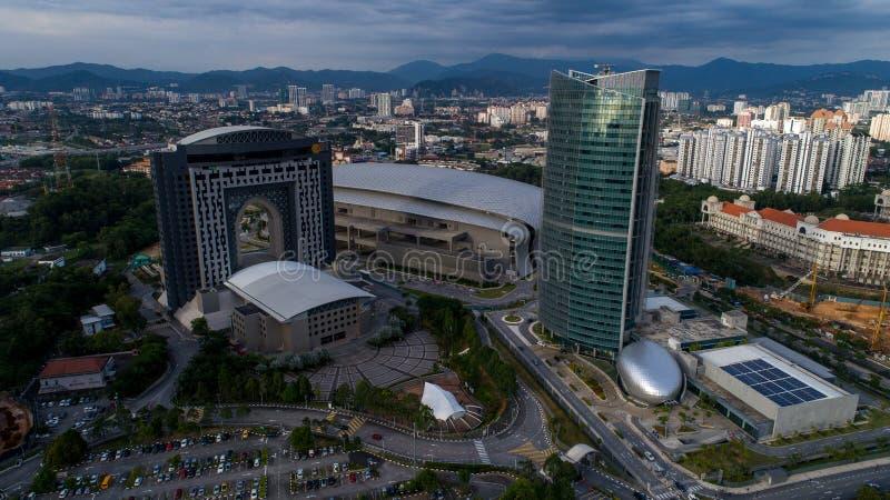 Photo aérienne de MITEC, Malaisie images libres de droits