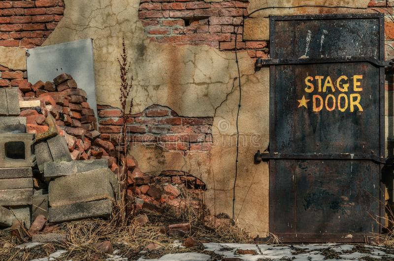 Photo of Abandoned Back Stage Door royalty free stock image
