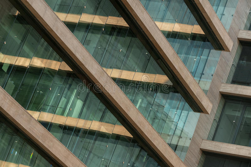 Photo abstraite d'un bâtiment moderne photos libres de droits
