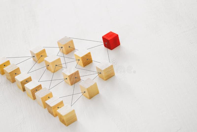 photo abstraite de concept de connectivité, liant des entités, la hiérarchie et l'heure image libre de droits