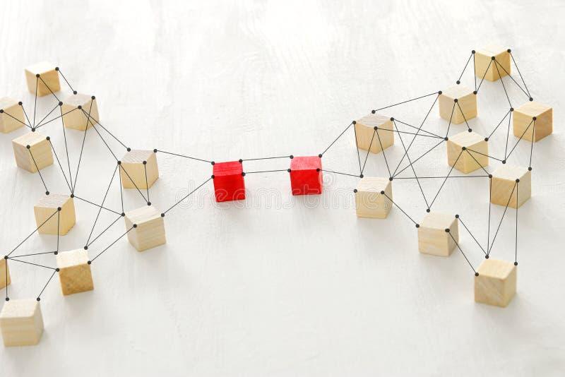 photo abstraite de concept de connectivité, liant des entités, la hiérarchie et l'heure photo libre de droits