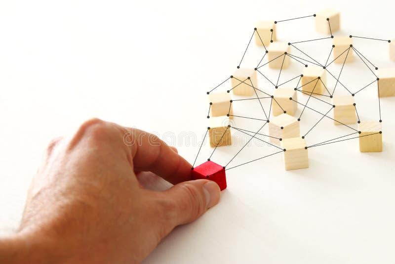 photo abstraite de concept de connectivité, liant des entités, la hiérarchie et l'heure photos stock