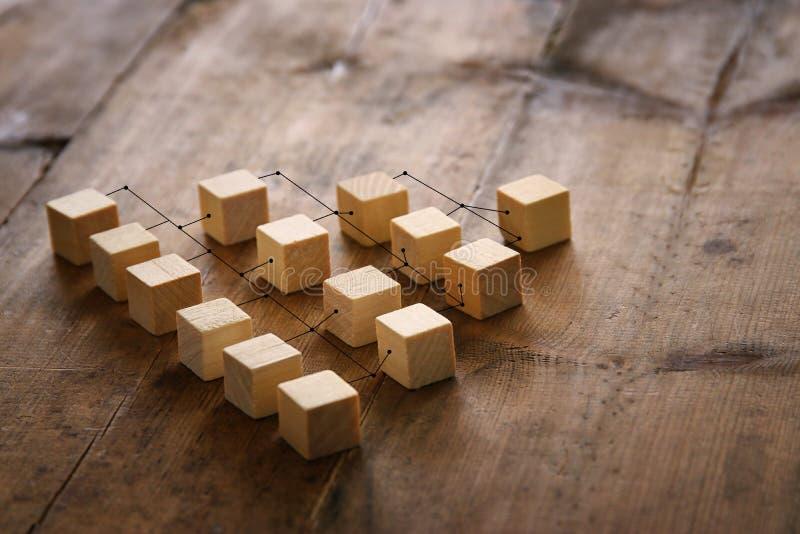 photo abstraite de concept de connectivité, liant des entités, la hiérarchie et l'heure images stock