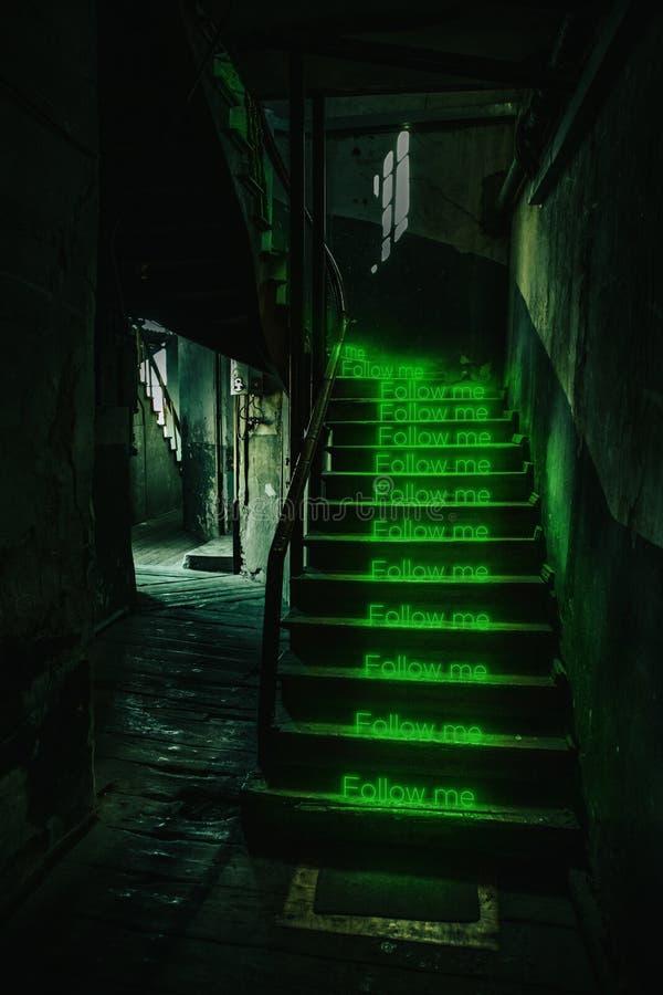Photo abstraite des escaliers photographie stock libre de droits