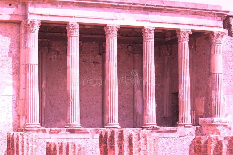 Photo abstraite des ruines antiques à Pompeii, Italie photographie stock libre de droits