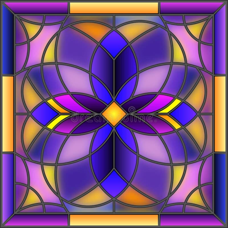 Photo abstraite géométrique d'illustration en verre souillé illustration de vecteur