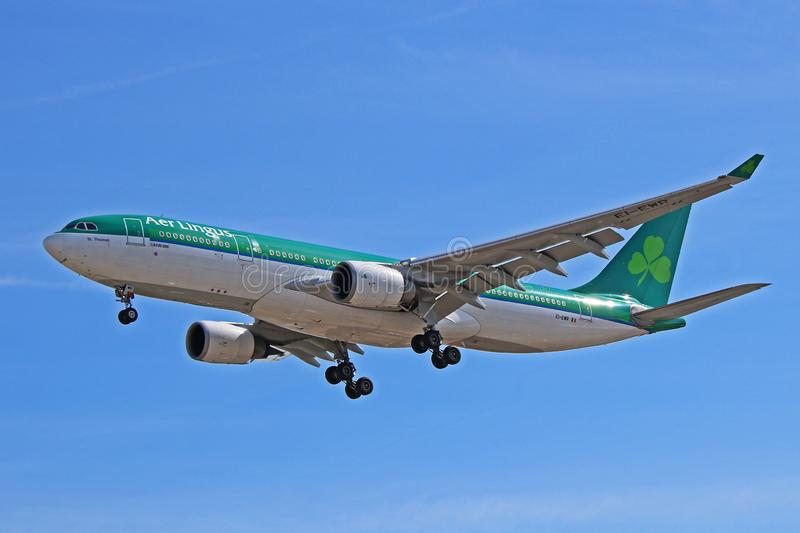 An Aer Lingus Airbus A330-200 Side View royalty free stock images