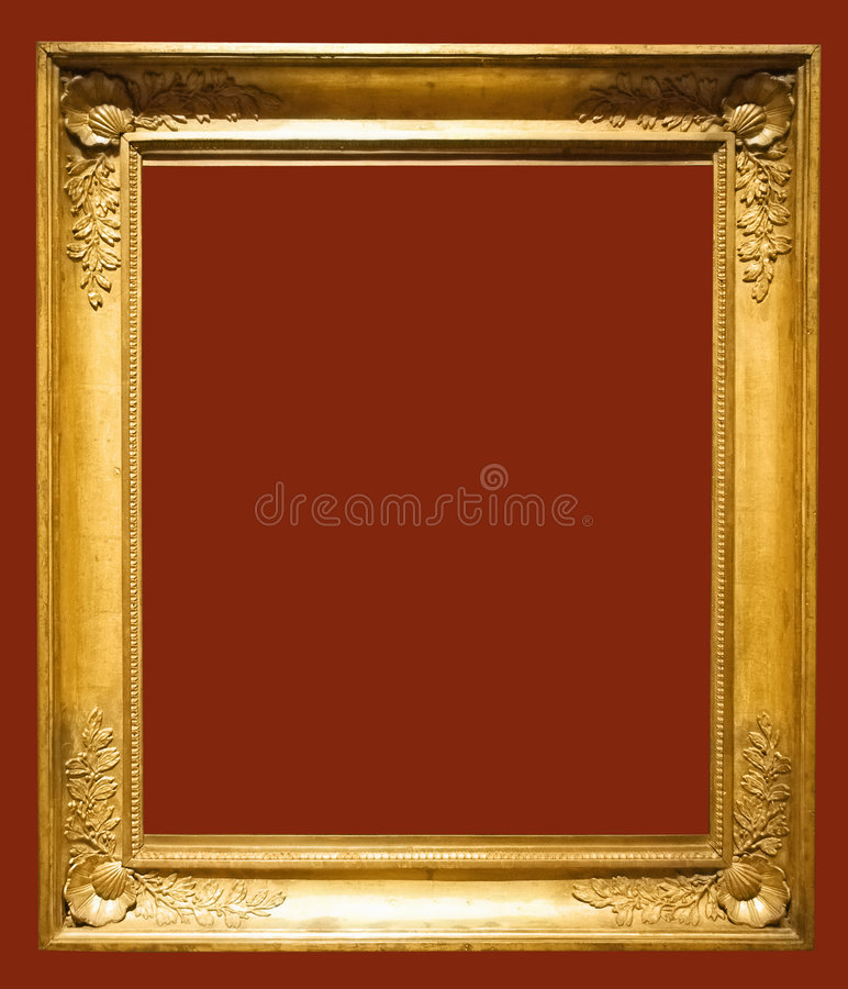 Photo of aged picture frame stock images