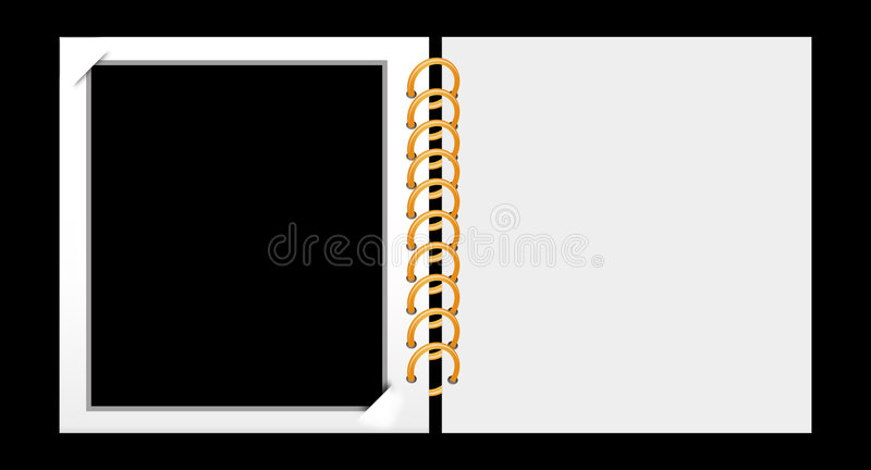 Photo album stock illustration