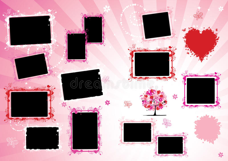 Photo Album Design Page. Royalty Free Stock Image
