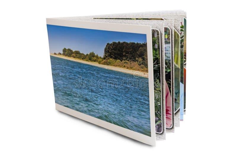 Colorful photo album on white background. royalty free stock photo