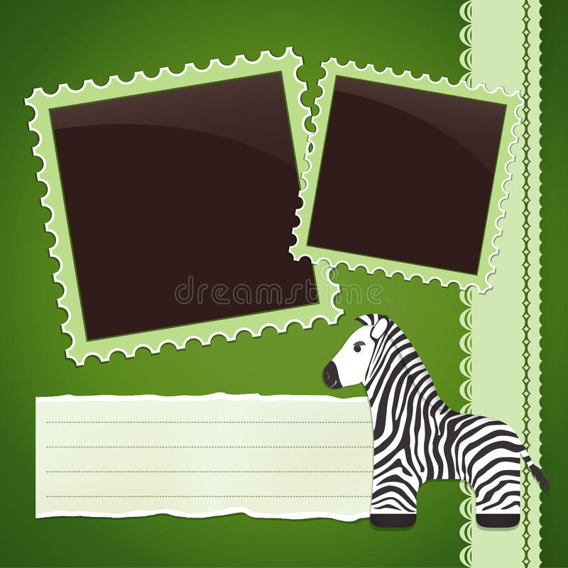 Download Photo Album Page With Zebra Stock Vector - Illustration of photography, photo: 31023912