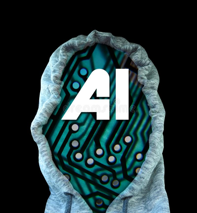Computer digital ai artificial intelligence printed circuit board pcb information data electronics electrical system royalty free stock photos