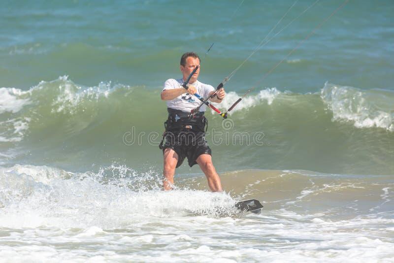 Photo athlete kitesurfing royalty free stock photos