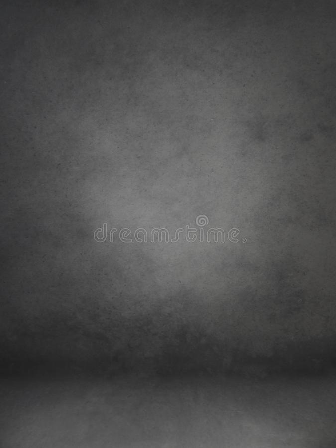 Photo backdrop background studio photography. Black classic portrait studio background stock image