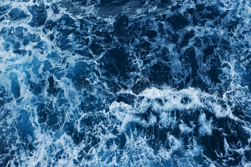 Sea Level View from Above. Ocean Surface with Waves. Photo background. Ocean Surface with Waves. Sea Level View from Above royalty free stock photography