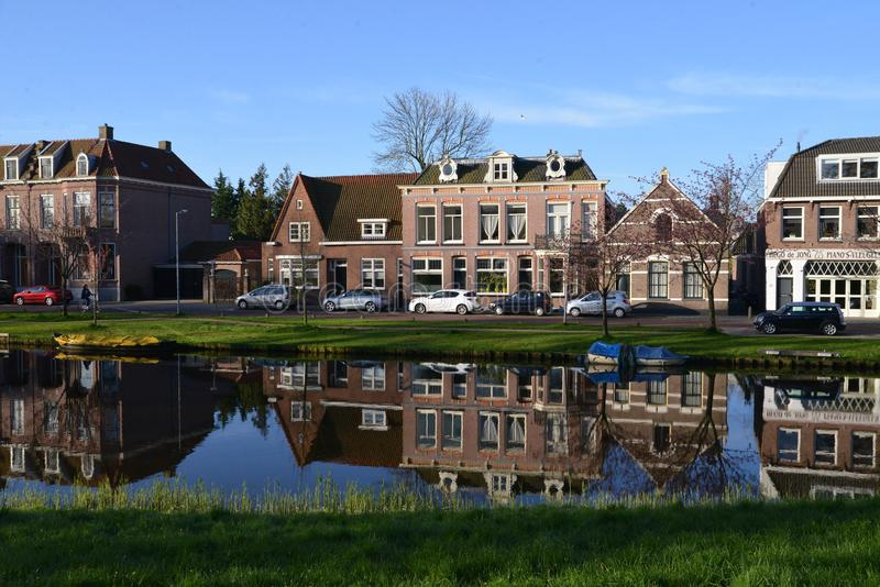 Holland landscape Alkmaar city royalty free stock photography