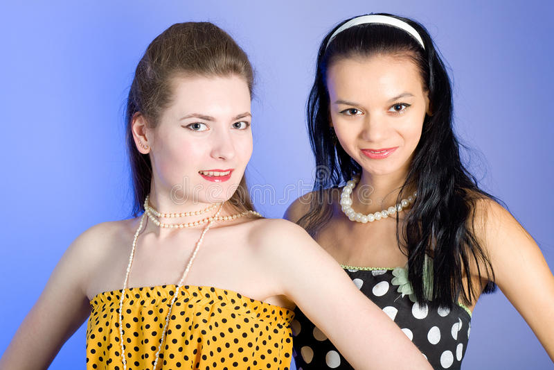 Photo of beautiful girls stock photography
