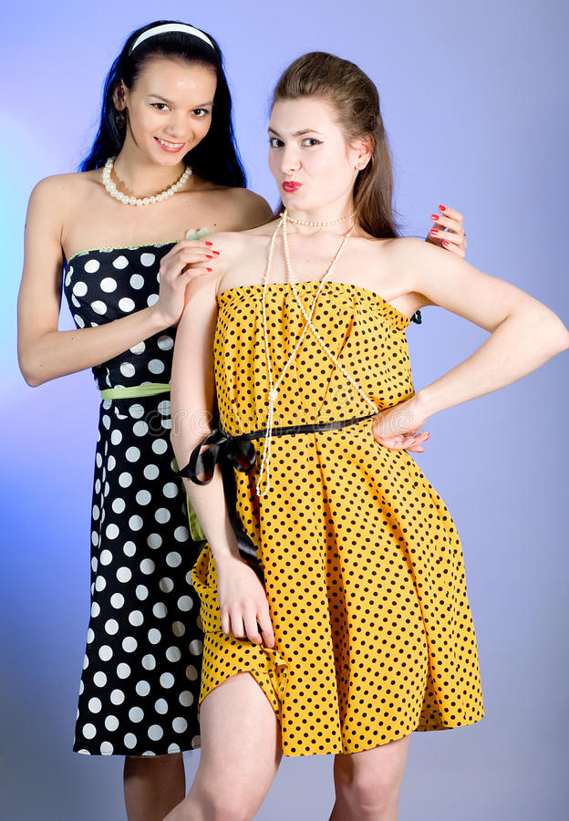 Photo of beautiful girls stock photo