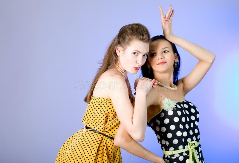 Photo of beautiful girls royalty free stock photo