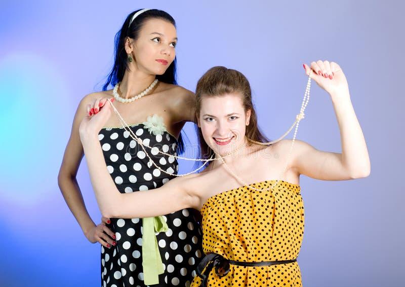 Photo of beautiful girls royalty free stock photos