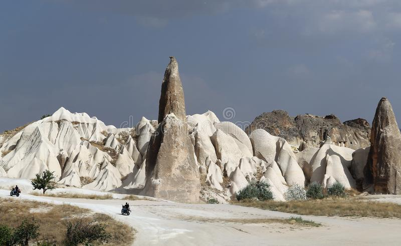 Photo of the beautiful sunny landscape of the mountains of Cappadocia in Turkey stock images