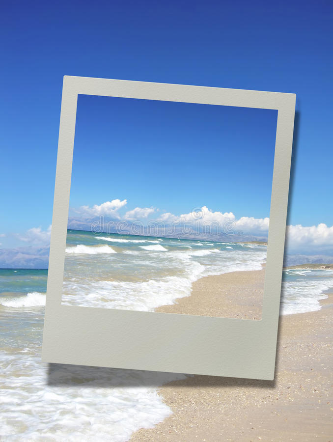 Photo of a beautiful sandy beach, vacation concept royalty free stock images