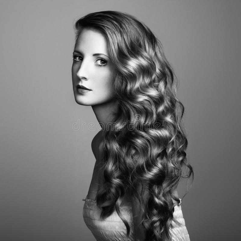 Photo of beautiful young woman royalty free stock photo