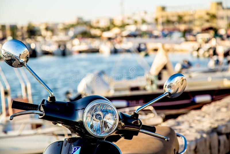 Photo of Black Motorcycle royalty free stock image